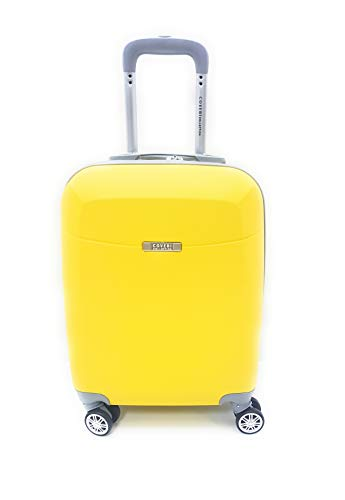 TROLLEY Coveri Collection IDONEO PRIORITY RYANAIR cm.55x40x20 ABS RIGIDO 8 RUOTE (GIALLO)