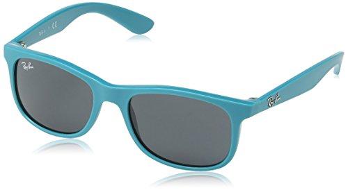 Ray Ban Unisex Sonnenbrille RJ9062S, Blau (Gestell: Hellblau, Gläser: Grau Klassisch 701687), Medium (Herstellergröße: 48)