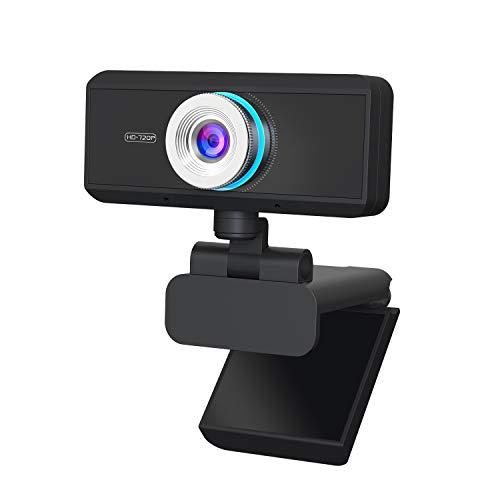 Aingol Full HD Webcam 720P, Widescreen Video Calling and Recording, Digital Web Camera mit Mikrofon, Stream Cam für PC, Laptops und Desktop