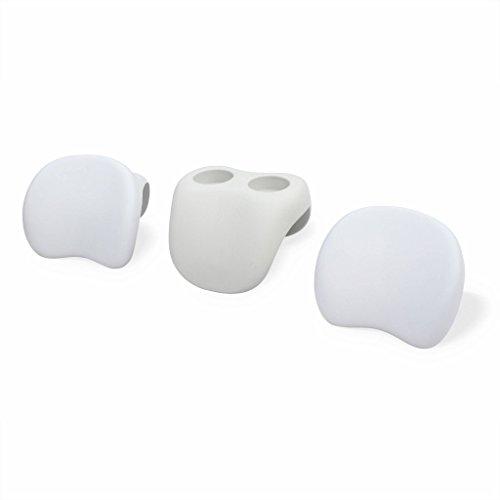 Steinbach Whirlpoolzubehör MSpa Comfort Set (2 Kopfstützen, 1 Getränkehalter), Weiß, 3-teilig