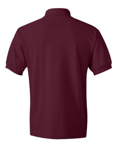 Hanes Herren Baumwolle Poly Welt Kragen und Manschetten Short Sleeve Pique Polo Shirt Kastanienbraun