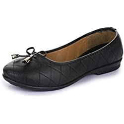 Gliders (from Liberty) Women's Willy-3 Black Ballet Flats - 4 UK/India (37 EU)