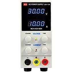 WEIHAN 30V / 10A Mini fuente de alimentación de CC digital Pantalla de voltios de corriente Conmutación ajustable para teléfono móvil PC Mantenimiento portátil -
