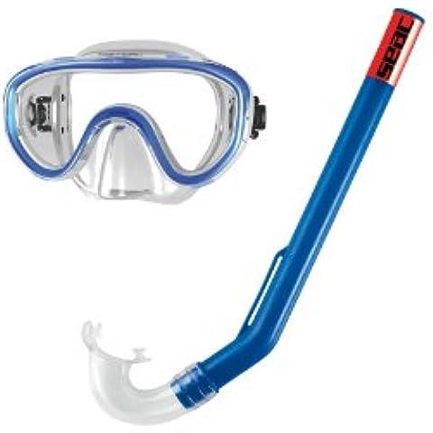 Seac Set MARINA - Gafas y tubo de snorkel para niño, color azul