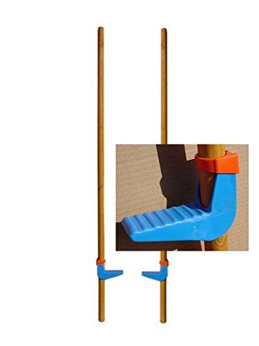 Kinder-Stelzen aus Holz/Kunststoff 132 cm lang