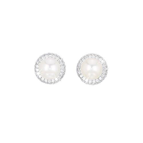 Orecchini in argento con perla Mabina