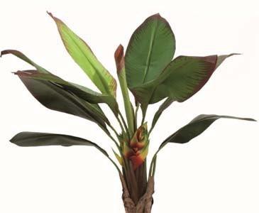 Strelizienstaude künstlich, mit 10 Blätter, Höhe ca. 140cm, im Topf – künstliche Palme Dekopalmen Kusntpalmen