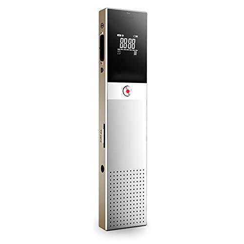 LIGHTOP Digitales Diktiergerät mit MP3 Player Spracherkennung Lautsprecher Lange Akkulaufzeit Digitalrecorder Voice Recorder mit TF-Karte Expansion Buchse Audio Aufnahmegerät(8GB)