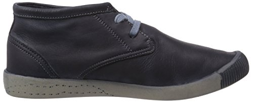 Softinos Indira washed leather Damen Derby Schnürhalbschuhe Blau (navy 519)