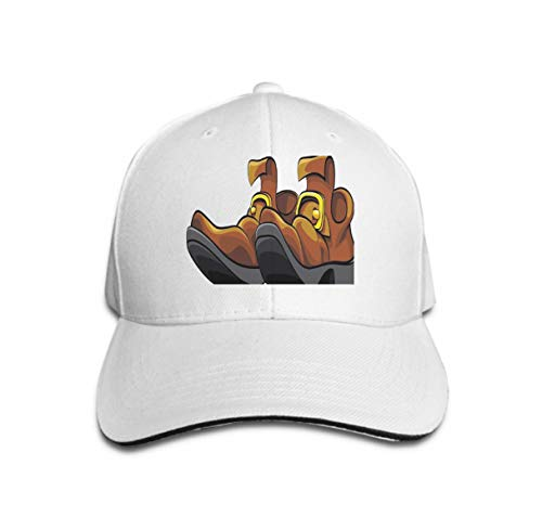 Men Women Classic Denim Adjustable Baseball Cap Colourful Two Old Mens Shoes Isolated White Background File Doesn t Contains Gradients Blends