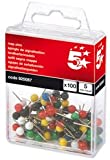 Brand New. 5 Star Map Pins 5mm Head Assorted [Pack 100]