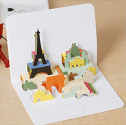 ard Three-dimensional Happy Birthday Greeting Card With Envelope For Kids Birthday Holiday Wedding Decoration CraftTower as photo ()