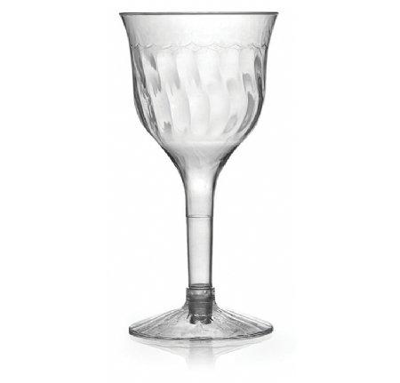 Elegantes Hard Kunststoff Weinkelch/Cup/Glas–klar–6oz (170ml)–10Stück