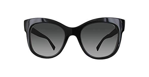 Max Mara Mmtextile-7T3-53 Damen Sonnenbrille, Schwarz, 53