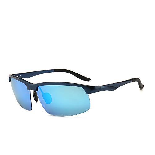 kamier Trend Polarized Sonnenbrillen Outdoor Reitbrillen Aluminium Magnesium Sonnenbrillen Blau One Size