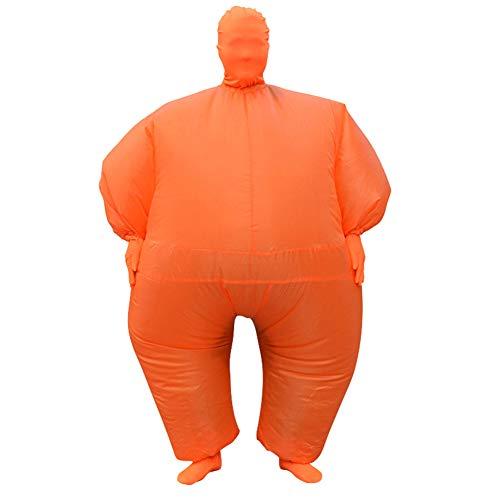 PINGTANG Aufblasbares Kostüm Sumo Wrestling Fat Suit Halloween Oktoberfest Lustige Neuheit Cosplay Fasching Karneval für Erwachsene (Einheitsgröße),H (Fat Suit Für Erwachsene Kostüm)