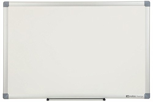 Buy Nobo Prestige Enamel Whiteboard (High Erasability, Magnetic, Accessories Included) – Large (1200 x 900 mm), Aluminium Trim on Line