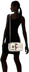 Love Moschino - Borsa Calf Pu Avorio, Shoppers y bolsos de hombro Mujer, Weiß (Ivory), 16x35x9 cm (W x H D) de Love Moschino