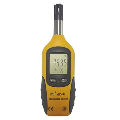 Funnyrunstore HT-86 Professionelle Digitale LCD-Bildschirmanzeige Indoor Outdoor Thermometer Hygrometer Temperatur-Und Feuchtigkeitsmessgerät White & Gray (orange & schwarz)