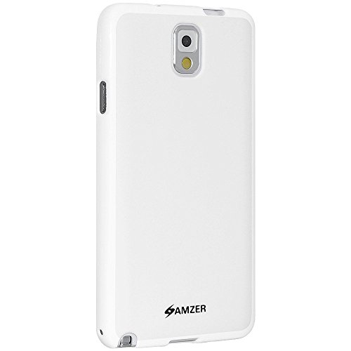 Amzer 96625 Pudding TPU Case - White for Samsung GALAXY Note 3 SM-N9005, Samsung GALAXY Note 3 SM-N900