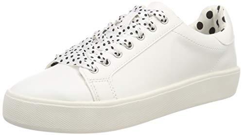 Dot Fashion Sneaker (Tamaris Damen 1-1-23724-22 145 Sneaker, Weiß (Wht/Blk Dots 145), 43 EU)