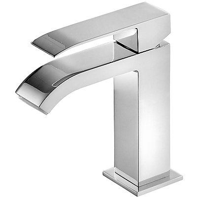 Monomando lavabo con caño cascada. * NOTA: La grifería con caño cascada se acompaña con 2llaves de regulación con filtro (Ref: 91.34.525).