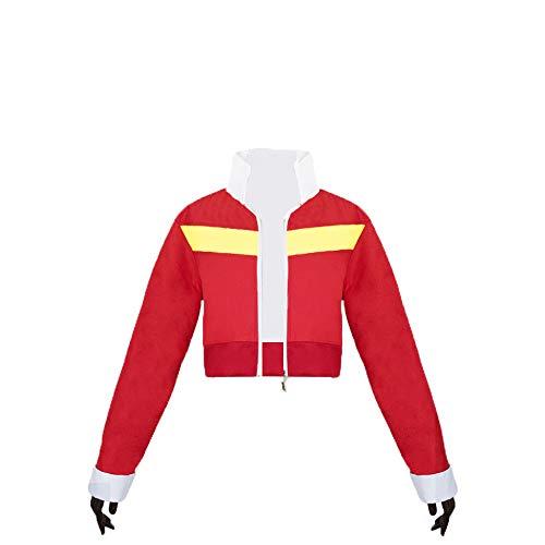 Vokaer Männer Erwachsene Legendary Jacke Langarm Rot Tops Top Coat Cosplay Kostüme - Defender Für Erwachsene Kostüm