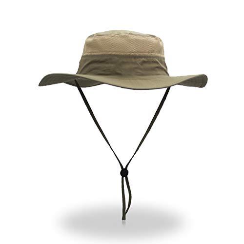 Windproof Fischerhüte VICSPORTS UPF50 + UV-Schutz Sun Cap Outdoor Eimer Mesh Hat 56-61cm -
