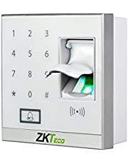 ZKTeco Door Access Control System Controller Biometric Fingerprint Reader, Keypad Remote Control for Access Control Applications (White)
