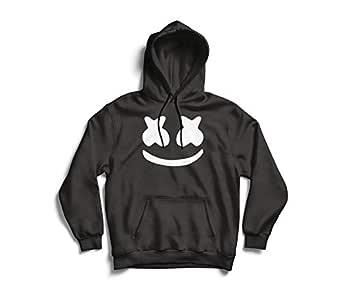 EDGY Unisex Cotton Marshmallow Cool Hooded Sweatshirt (Black, Small)