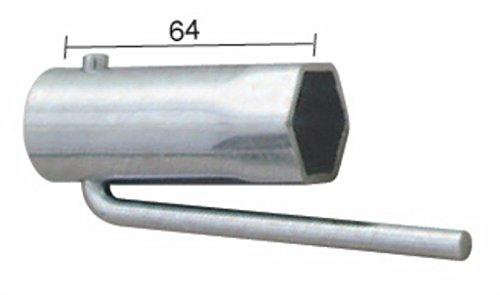 BUZZETTI - 19340 : Llave De Bujía Para Ciclomotores Plegable Hex.21Mm