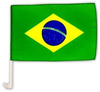 Autofahne Autoflagge Brasilien 30 x 45 cm