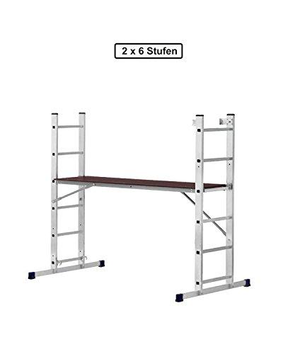 Profi Arbeitsgerüst Baugerüst Leiter Gerüst 6x2 Treppengerüst Klappleiter Bühne