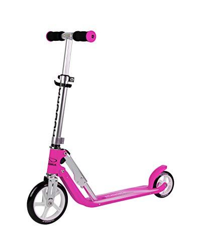 HUDORA 14201/00 Little BigWheel, Magenta-Scooter Roller Kinder-Verstellbare Lenkerhöhe von 68 bis 74 cm, bunt