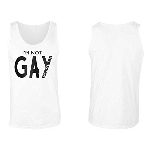 Io non sono gay ma mi sento come novità canotta da uomo bb15mt White