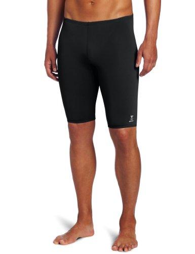 TYR Sport Men's Solid Durafast Jammer Swim Suit (Swim Mens Jammer)
