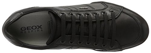 Geox Herren U Kristof A Low-Top Schwarz (Blackc9999)