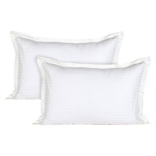 Ahmedabad Cotton Luxurious 2 Piece Sateen Pillow Cover Set - 45cm x...