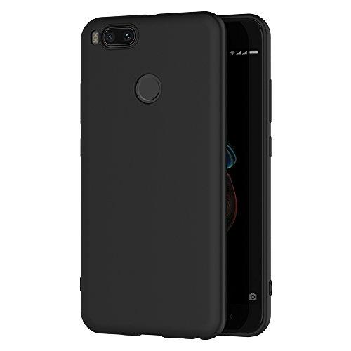 AICEK Cover per Xiaomi Mi 5X/Xiaomi Mi A1, Cover Xiaomi 5X Nero Silicone Case Molle di TPU Sottile Custodia per Xiaomi Mi 5X (5.5 Pollici)