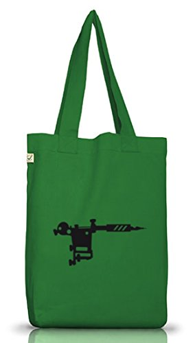 Moss Tasche Positive Stoff Jutebeutel GUN Tätowierung Green Shirtstreet24 TATTOO Tätowierer MACHINE Earth qpw4AnxBav