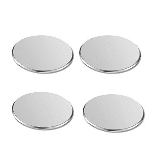 yianerm 4pezzi Scrub circolare supporto cellulare magnetico metallo piastra per tutte le auto