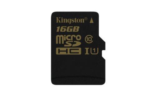 Kingston SDCA10/16GBSP microSD/SDHC 16GB Speicherkarte (UHS-1, 90 MB/s Lesegeschwindigkeit, 45 MB/s Schreibgeschwindigkeit) -