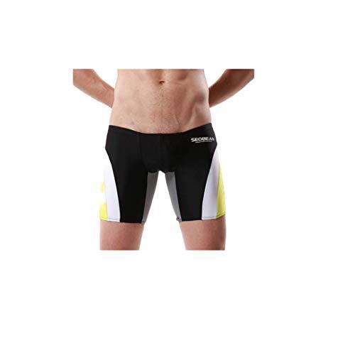 XuxMim Männer Marke Stripe Sexy Nylon Breathable Bulge Slip Badehose