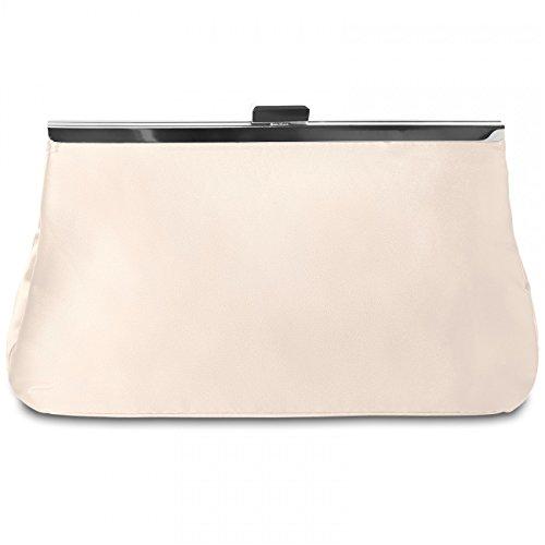 Farben Satin Design Abendtasche CASPAR klassische viele elfenbein stylischem TA320 Damen in Clutch UxSxgzw7