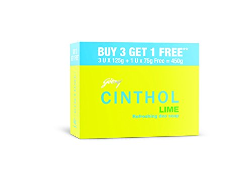 Cinthol Lime Soap, 125g (Pack of 3) + 75g Free