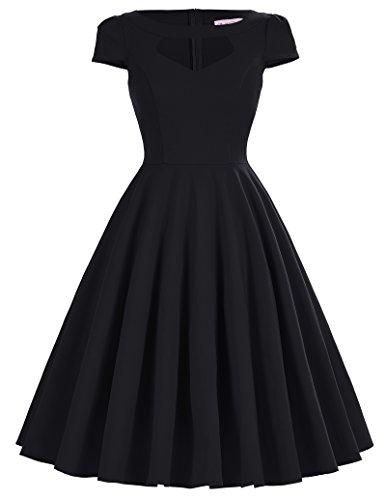 Für 1950er-jahre-kleider Frauen (50s vintage rockabilly kleid hepburn stil swing kleid dress for women petticoat kleid M BP189-1)