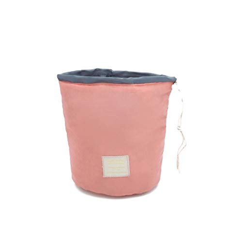 Makeup Organizers - Folding Drawstring Barrel Shaped Travel Makeup Cosmetic Bag Bathroom Toiletry Organizer Waterproof - Dollars Organizers Storage Home Gold Black Desk Small Travel Rose Bathroom -