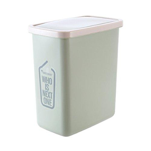 fuckluy Bacs à ordures extérieurs Le Couvercle en Plastique poubelles Toilettes Cuisine Couvre-Culasse rectangulaire Corbeille 27 * 16 * 30cm, Vert