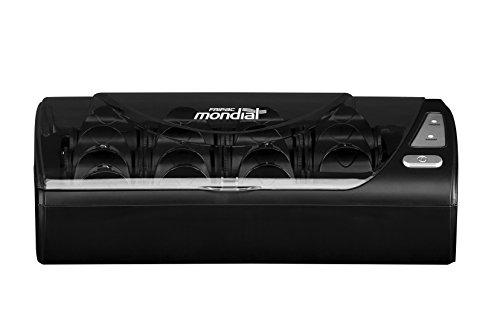 Fripac Mondial Lockenwickler Hotrolls, Heizwickler zum Stylen von Locken und Volumen, schwarz