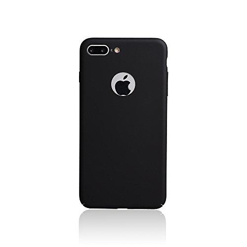 """xhorizon FM8 Drei-Stufen Plating Baby Haut Volleinschlag Schutz Stark Rücken Case Cover für iPhone 7 Plus [5.5""""] (Schwarz) Schwarz"""